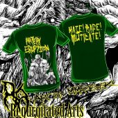 ARTERY ERUPTION Mike Majewski bw art T-shirt Green