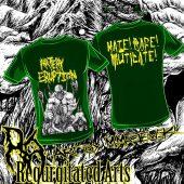 ARTERY ERUPTION Mike Majewski bw art T-shirt Green