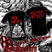 ARTERY ERUPTION Mike Majewski bw art T-shirt Black