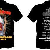 ANAL GRIND Mexican bondage tour T-shirt Black