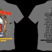 ANAL GRIND Mexican bondage tour T-shirt Grey