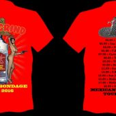 ANAL GRIND Mexican bondage tour T-shirt Red